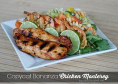 Copycat Bonanza Chicken Monterey, delicious BBQ marinade.