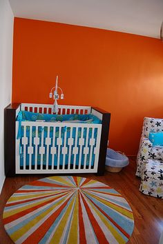 Nursery Idea I love this color for boys