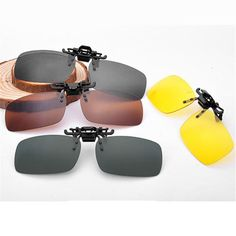 FuzWeb:4 Style Day and Night Men Women Driving Polarized Sunglasses Clip Myopia UV400 er