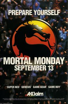 Mortal Kombat for the 16 bit era consoles... once upon a time there was no bigger event. Video Games Posters