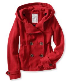 Hooded pea coat Aero  $59.75 I want the red one