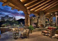 Love this outdoor living space!