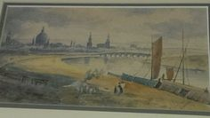 Antique Water Colour Painting 'View Of Dresden' Signed T.M.N Dated 1897 Framed | eBay