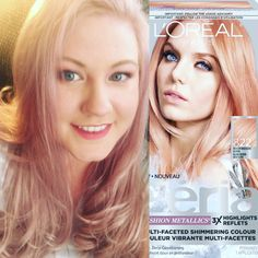 L Oreal Feria Fashion Metallics Rose Gold Hair Color Hair And