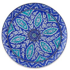 Özel Tasarım İznik Cini Tabak - al8ta30c017 - Tile Art, Tiles, Beautiful Wall, Ceramic Plates, Textile Patterns, China Porcelain, Tile Design, Plates On Wall, Islamic Art