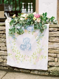 Almost All Decor Was Brought in from Family Homes to Create the Ultimate Personalized Wedding! Wedding Linens, Floral Wedding, Diy Wedding, Wedding Dress, Garden Wedding, Blue Wedding, Wedding Signage, Wedding Reception Decorations, Wedding Venues