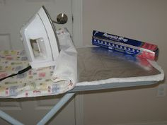 Iron both sides of your clothing at once. Put a piece of foil UNDER your ironing board cover.
