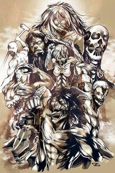 Attack On Titan Season 2, Attack On Titan Eren, Attack On Titan Fanart, Neue Animes, Attack On Titan Tattoo, Titan Shifter, Female Titan, Japon Illustration, Avatar The Last Airbender Art