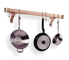 enclume premier 36inch rolled end bar wall or ceiling pot rack