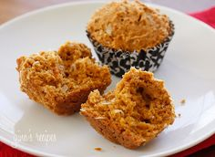 Low Fat Papaya Coconut Muffins