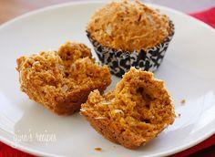 Papaya Coconut Muffins #muffins #papaya #coconut #breakfast #snack #lowfat
