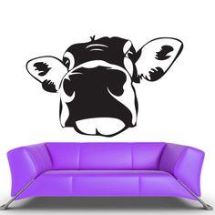 Wall Vinyl Sticker Decals Decor Art Bedroom Design Mural Cartoon Funny Cow Head  (z461)