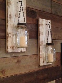 how to make a mason jar and pallet wood candle holder jars wood candle holders and pallet wood. Black Bedroom Furniture Sets. Home Design Ideas