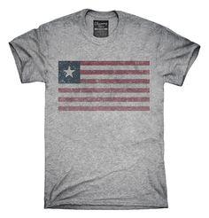Retro Vintage Liberia Flag T-Shirts, Hoodies, Tank Tops