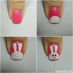 Tutoriales : Diseño de conejo en uñas