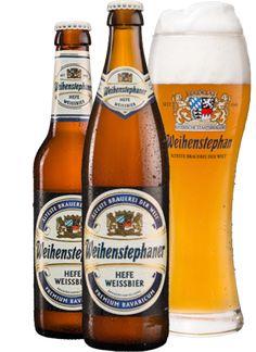 Weihenstephaner – Hefe Weissbier, German Wheat Ale from Germany's oldest Brewery, established in 1040 by Benedictine monks in Bavaria. Oktoberfest Beer, Beers Of The World, Wheat Beer, Local Brewery, Lager Beer, Beer Brands, German Beer, Beer Recipes, How To Make Beer