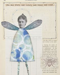 """""""My creative muse is kindled by the worn edges and color of old paper. Vintage paper offers an excellent background for all kinds of mixed-media art. It is subtle, interesting, and adds character and charm to almost any piece."""" — Cheryl Dossey 