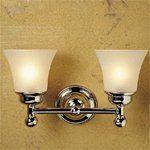 Newport Brass 21-52FG Jacobean Double Light Bathroom Fixture with Flared Seeded, Gloss Black