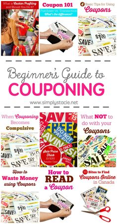 Guide to Couponing Beginner's Guide to Couponing - Want to learn how to use coupons to save money? Check out this awesome resource.Beginner's Guide to Couponing - Want to learn how to use coupons to save money? Check out this awesome resource. Extreme Couponing, Couponing 101, Start Couponing, Save My Money, Ways To Save Money, Money Saving Tips, Money Savers, Money Fast, Money Tips