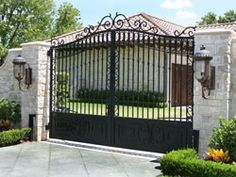 Single swing driveway gates are a popular choice, especially for homes with a sloped driveway where a sliding gate would not be feasible.