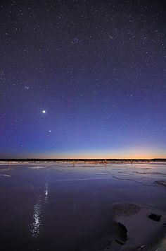 Jupiter & Venus conjunction    Photo by: Sebastian Saarloos-A lifelong Alaskan who is an amateur photographer who likes taking aurora, sunset, wildlife and landscape photographs.