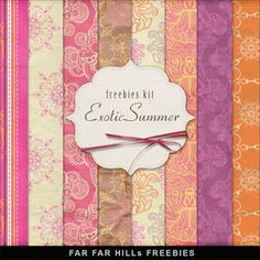 New Freebies Backgrounds Kit - Exotic Summer