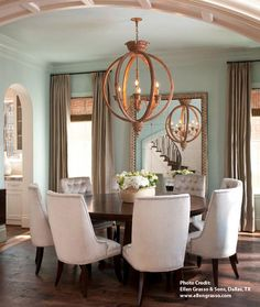 - Overview - Details - Why We Love It - Add instant sophistication to your room with this hand-carved orb chandelier. It's white-wash finish coupled with wrought iron will add elegance to your breakfa