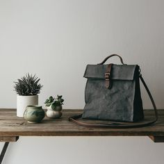 Uashmama Lunch Bag Dark Grey - The Future Kept - 2