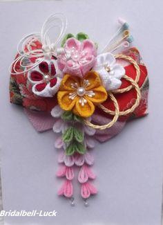 布花,下がり,オーダー髪飾り,和装髪飾り,ブライダル・ベルLuck