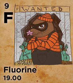 F - Fluoride compounds are used to strengthen teeth, ease cooking (Teflon), keep feet dry (Gore-Tex) & purify uranium for nuclear reactors Atomic Number, Nuclear Reactor, Gore Tex, Chemistry, Fun Facts, Periodic Table, Cooking, Board