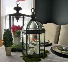 Turn 80s chandeliers into lanterns. Clever!