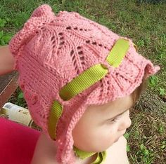 Victoriana Baby Bonnet Free Knitting Pattern and more baby hat knitting patterns
