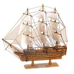 Wooden 152930: Hms Victory Ship Model Lifelike Schooner Nautical Boat -> BUY IT NOW ONLY: $40.48 on eBay!