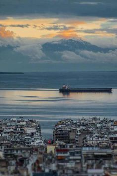 View of Mount Olympus (Home of the ancient Greek Gods) as seen from Thessaloniki, #kitsakis