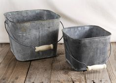 Flower Shop Pails with Handles (Set of 2) $19. Great for kids to pick fruit from garden