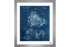 One Kings Lane - A Boy's Hangout - Bing, Polaroid Camera Accessory, 1966 Camera Art, Polaroid Camera, Oliver Gal, Camera Accessories, Pablo Picasso, Blue And White, Framed Prints, Illustration, Kings Lane