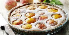"""Diaporama """"10 idées recettes pour cuisiner à partir d'une boite de pêches ou d'abricots au sirop"""" - Flan fruité"""