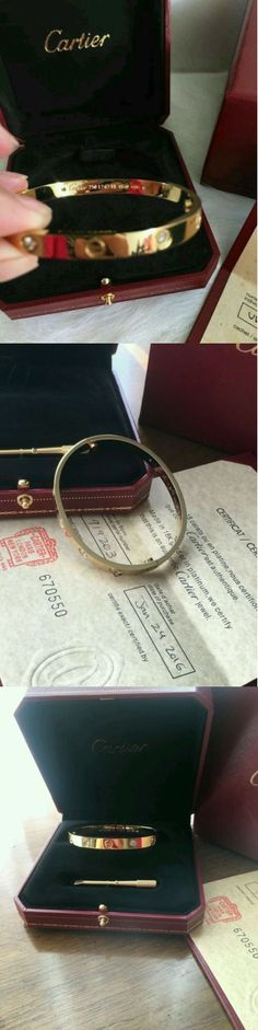 Precious Metal without Stones 164313: Cartier 18K Yellow Gold Love Bangle Bracelet Size 18 Authentic -> BUY IT NOW ONLY: $375.21 on eBay!