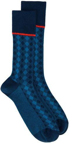 Prada Diamond pattern socks