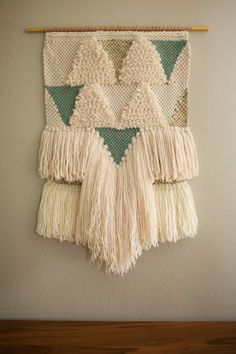 Large Hand Woven Textile Wall Hanging / Boho / Woven Tapestry / Fiber Art / Statement