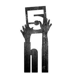 hi 5  good use of negative/positive space