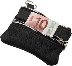 Große Echt Leder Schlüsseltasche  Koffer, Rucksäcke & Taschen, Zubehör, Schlüsselmäppchen, Damen Coin Purse, Wallet, Purses, Bags, Fashion, Metal, Taschen, Leather, Black