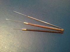 SET of 3 Indian Aari Tambour Beading Hook Lesage Embroidery Needle Crochet Broderie / Zardozi / Luneville / Ari / Perlee / Goldenwork / Zari