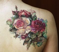 46 Gorgeous Flower Tattoos to Brighten Your Body (BodyArt! flower tattoo for man; flower tattoos on back; flower tattoos for women; flower tattoos on wrist; flower tattoos meaning Body Art Tattoos, New Tattoos, Sleeve Tattoos, Pretty Tattoos, Beautiful Tattoos, Tattoo Und Piercing, Bouquet Tattoo, Tattoo Flowers, Flower Tattoos On Back