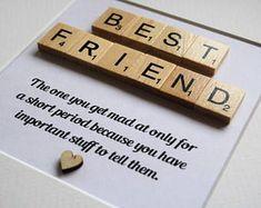 Handmade Friend Scrabble Art . Birthday Gift. Best Friend