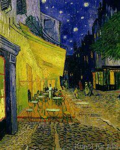 Vincent van Gogh - Cafe Terrace, Place du Forum, Arles, 1888