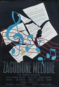 designer: Trepkowski Tadeusz poster title: Zagubione melodie year of poster: 1953