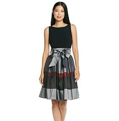 S.L. Fashions Sleeveless Suplice Back Tritone Party Dress at www.bonton.com