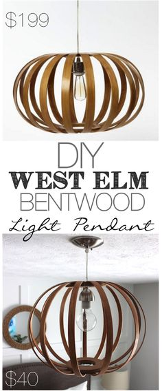It's A Grandville Life : DIY Bentwood Pendant Light