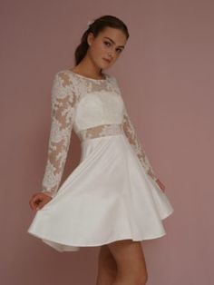 KONFIRMATIONSKJOLER-CLARON-2019-1911-3 Short Dresses, Formal Dresses, Fasion, Marie, Hair Beauty, Style Inspiration, Bridal, My Style, How To Make